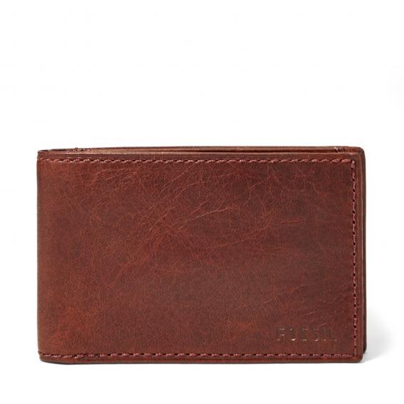 Fossil kortplånbok med myntficka FO10276