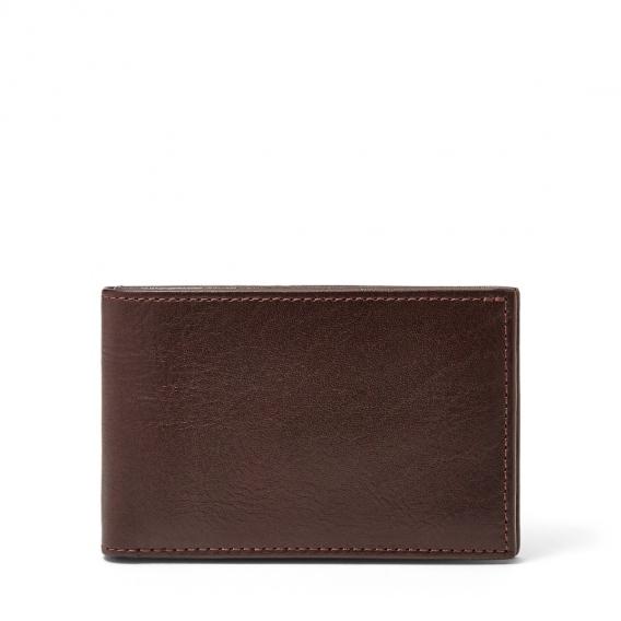 Fossil tegnebog med plads til kort med møntlomme FO10417