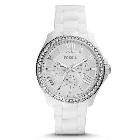 NWT Fossil женские часы Сесиль керамические часы белые многофункциональный розничной $180