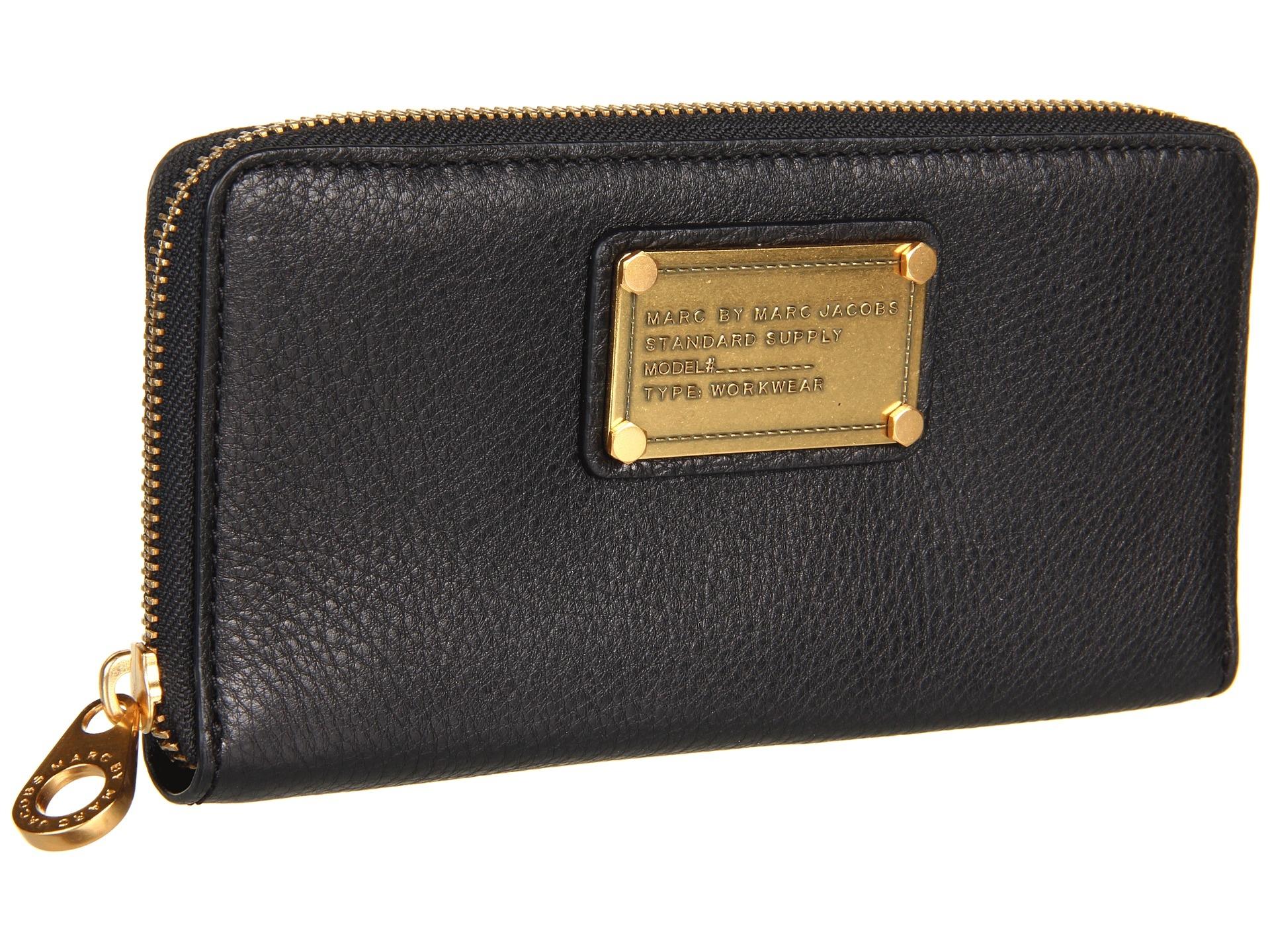 marc jacobs plånbok svart